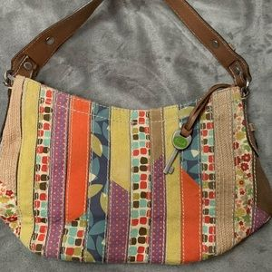 Fossil Multicolored Purse with Key